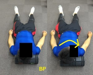 頸部のグリッドフォームローラーの使い方
