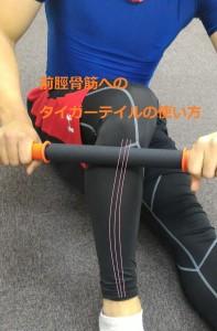 前脛骨筋のタイガーテイルのやり方