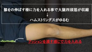 大腿四頭筋の収縮